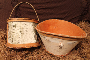 Harvesting Birch Bark - Our beautiful inventory of Birch bark baskets have a rich history.
