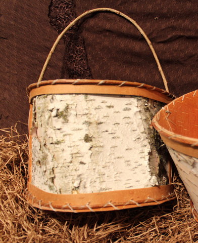 Birch Bark Half Baskets