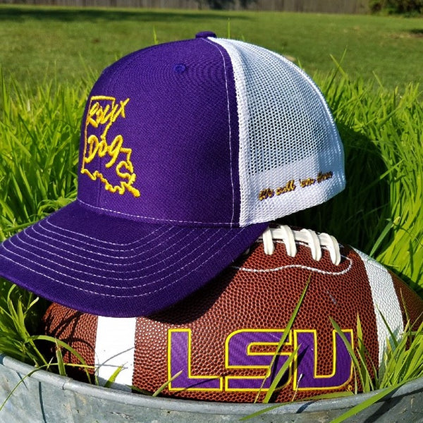 Roux Dog Logo Mesh Back Cap -- Gameday