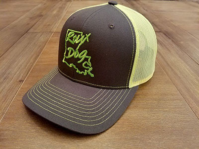 Roux Dog Logo Mesh Back Cap -- Neon Green