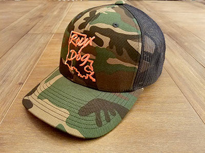 Roux Dog Logo Mesh Back Cap -- Camo/Black