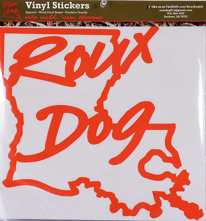 "Roux Dog 12"" Decal"