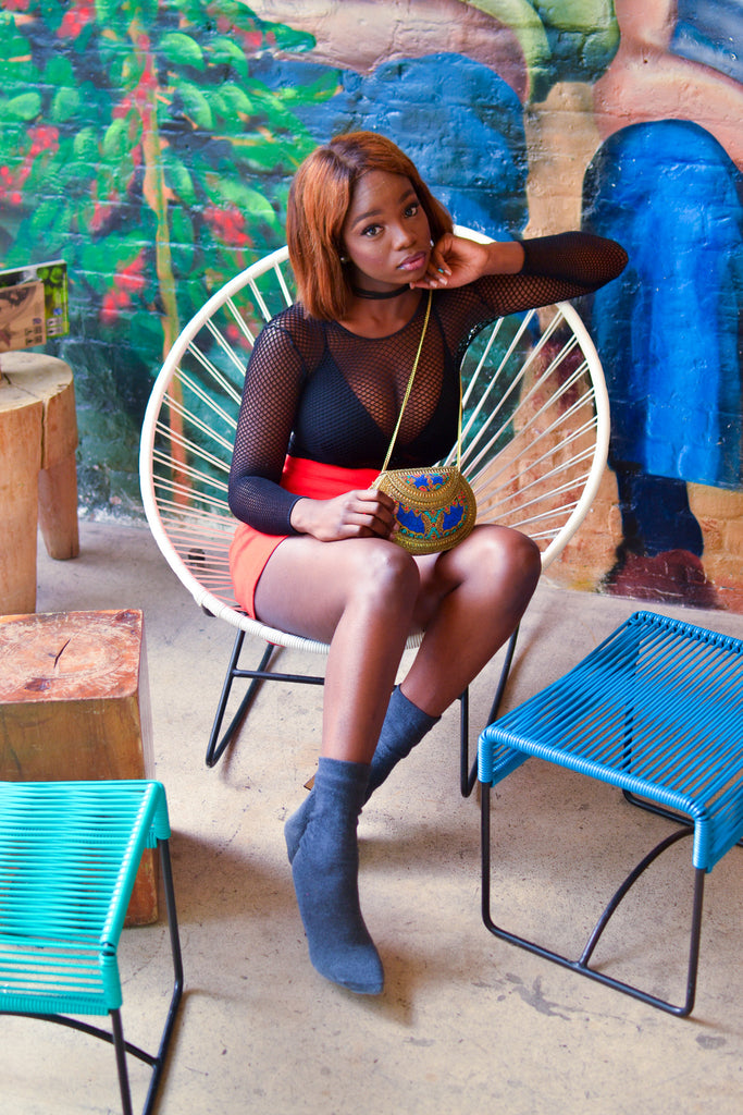 Fashion Blogger Shewa Jay Styles Our Metal Clutches For a Day & Night Lookbook