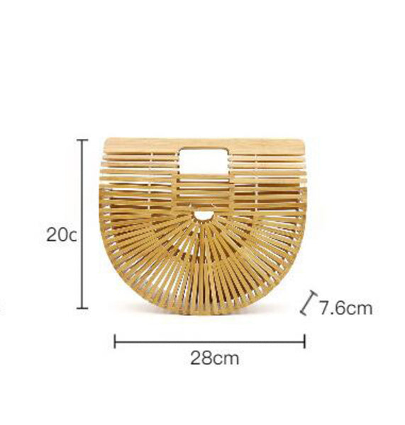 Frida Wooden Clutch