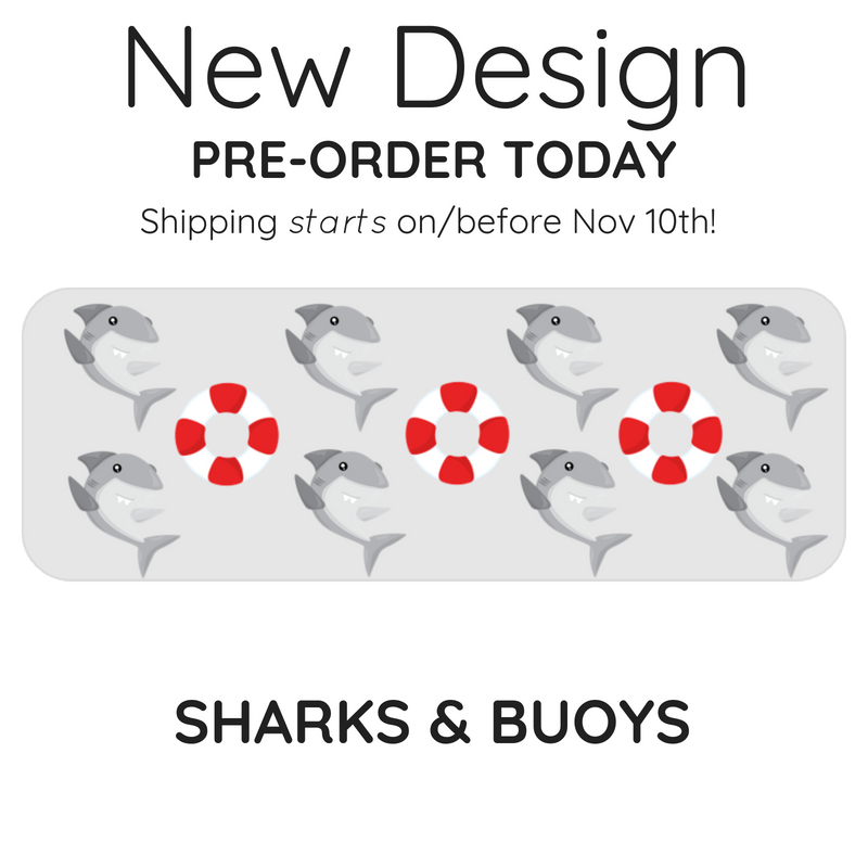 Sharks and Bupy design splash guard