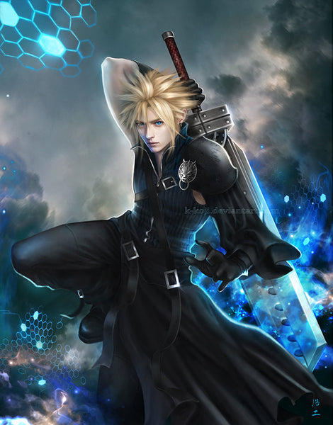 FF7, Crisis Core : Cloud Strife Art Blanket (large)