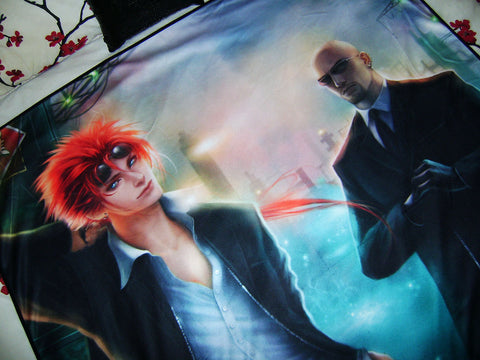 FF7, Crisis Core, Shinra : Reno and Rude Art Blanket (large)