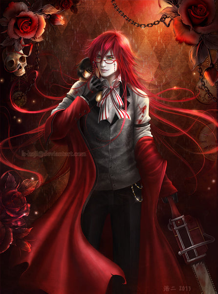 Kuroshitsuji: Grell Sutcliff Art Throw Pillow Case/Cover