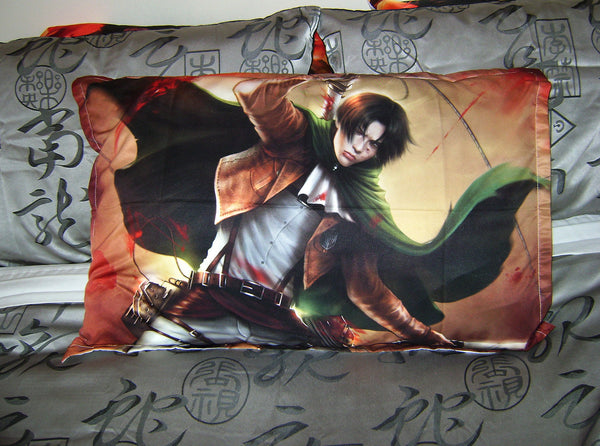 Attack on Titan, SnK : Captain Levi * Art* Bed Pillow Case