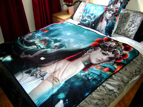 Asian Fusion Art Blanket