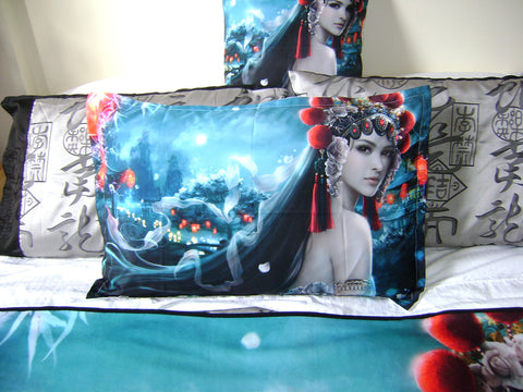 Asian Fusion original* Art* Bed Pillow Case