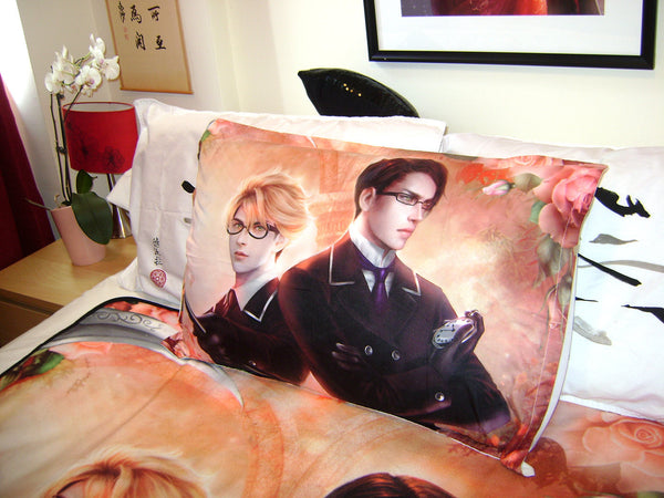 Kuroshitsuji: Ronald Knox with William T. Spears *Art* Bed Pillow Case