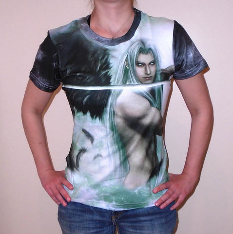 FF7 Sephiroth Original Art Custom T-shirt (women)