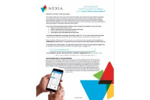 Voucher:  12 month Nexia subscription