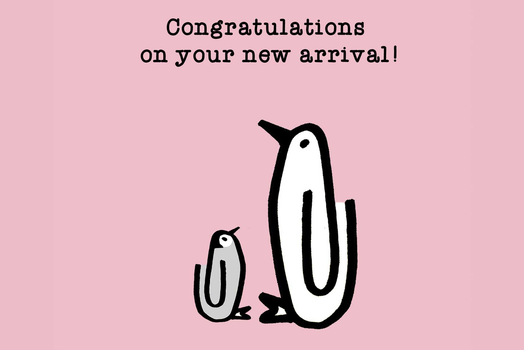congratulations on your new arrival card