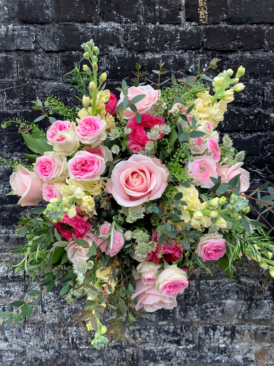 Mixed Hand tied bouquet -pinks