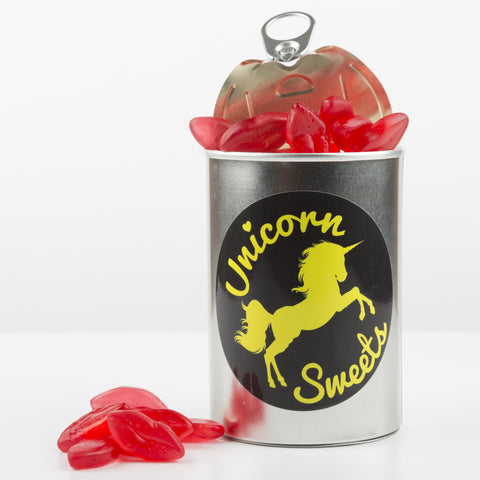 Sweet Filled Tin Can Containing Juicy Lips