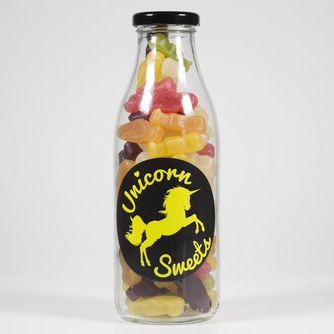 Sweet Filled Milk Bottle Containing Haribo Jelly Babies