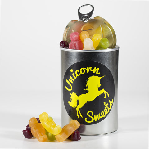 Sweet Filled Tin Can Containing Haribo Jelly Babies