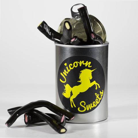 Sweet Filled Tin Can Containing Liquorice Pencils