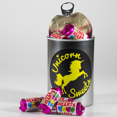 Sweet Filled Tin Can Containing Love Hearts Mini