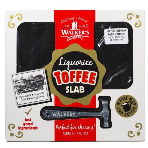 Liquorice Toffee Slab with Hammer 400g