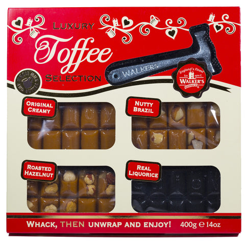 Luxury Toffee Selection Pack with Hammer 400g