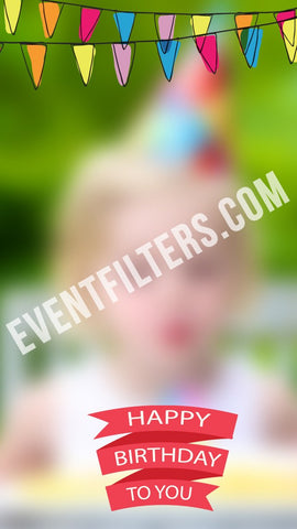 birthday party flags snapchat filter