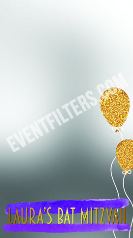 golden gold balloons snapchat filter