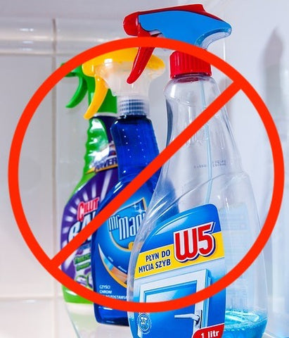 don't use cleaning products like these