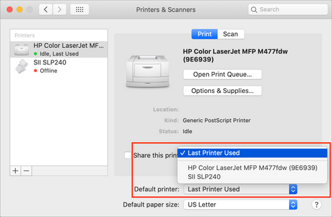 How to Set a Default Printer on the Mac