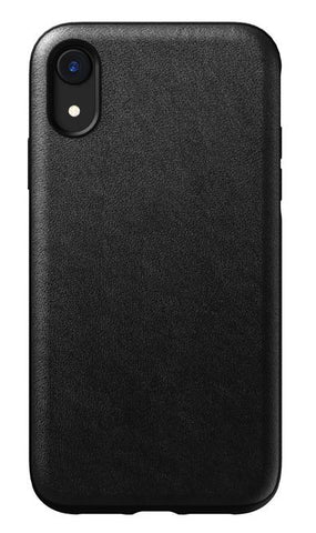 Nomad - Rugged Leather Case for iPhone XR Black 120-1092