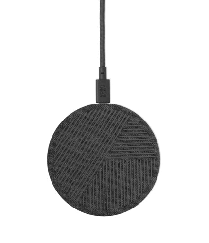 Native Union - Drop Qi Wireless Charger Fabric 10W V2 Slate Grey 116-0056