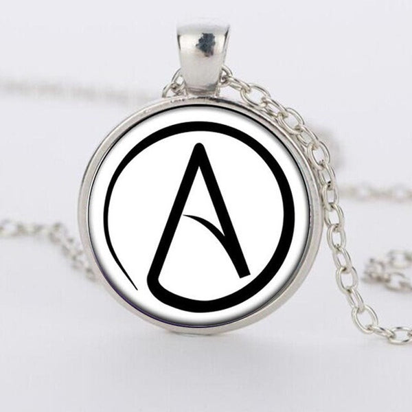 Hot selling atheist symbol silver pewter pendant necklace mouthy hot selling atheist symbol silver pewter pendant necklace aloadofball Gallery