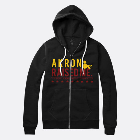 Akron Raised Me Zip Up Hoodie