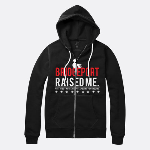 Bridgeport Raised Me Zip Up Hoodie