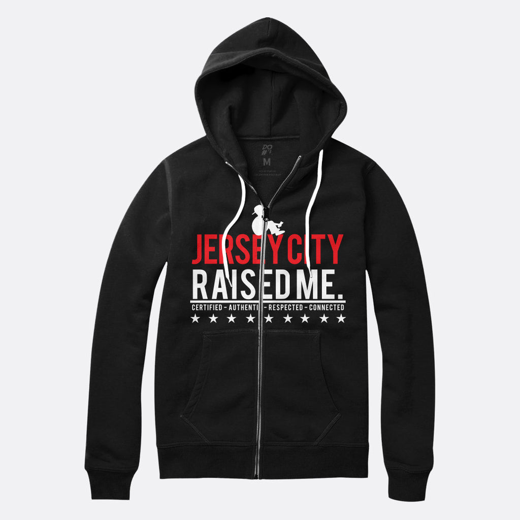 Jersey City Raised Me Zip Up Hoodie