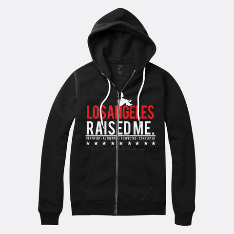 Los Angeles Raised Me Zip Up Hoodie