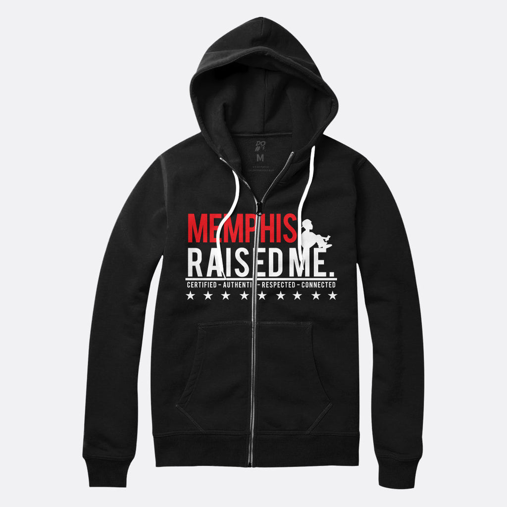 Memphis Raised Me Zip Up Hoodie