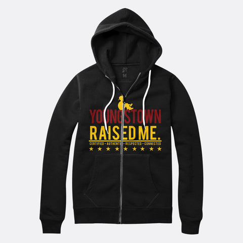 Youngstown Raised Me Zip Up Hoodie