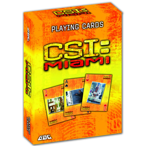 CSI PLAYING CARDS, CSI MIAMI DECK