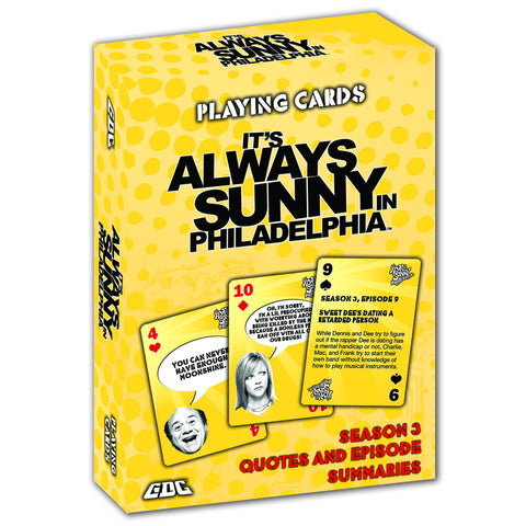 IT'S ALWAYS SUNNY IN PHILADELPHIA PLAYING CARDS, SEASON 3 DECK