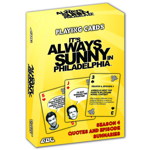 IT'S ALWAYS SUNNY IN PHILADELPHIA PLAYING CARDS, SEASON 4 DECK