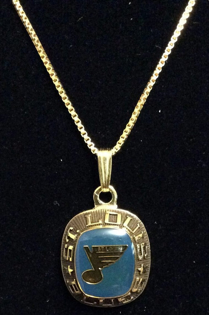 NHL ST. LOUIS BLUES BALFOUR RING TOP PENDANT/NECKLACE