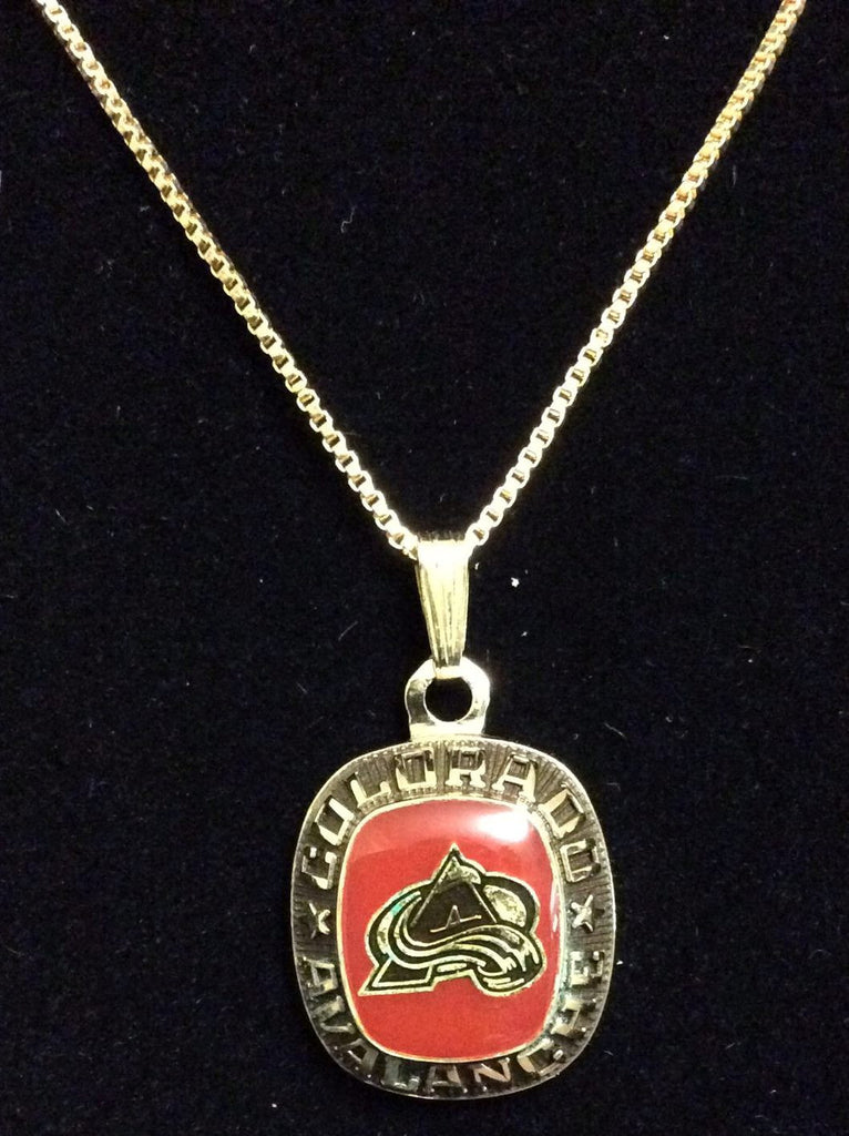 NHL COLORADO AVALANCHE BALFOUR RING TOP PENDANT/NECKLACE