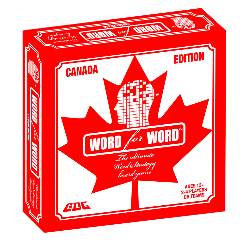 WORD FOR WORD BOARD GAME - CANADA EDITION