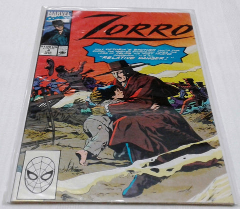 ZORRO #4 (MAR 1991, MARVEL) NM-MINT