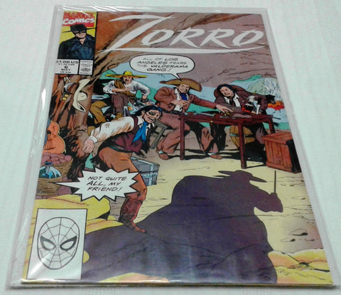 ZORRO #6 (MAY 1991, MARVEL) NM - MINT