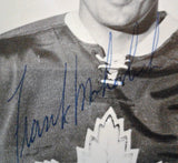 NHL FRANK MAHOVOLICH, TORONTO MAPLE LEAFS, 3.5 X 5.5, VINTAGE AUTOGRAPHED PHOTO, EXCELLENT