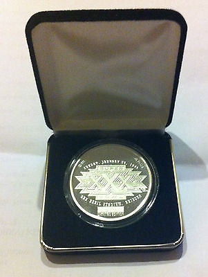 NFL 1996 SUPERBOWL XXX LIMITED EDITION SILVER COIN, SUN DEVIL STADIUM, #0976/1995